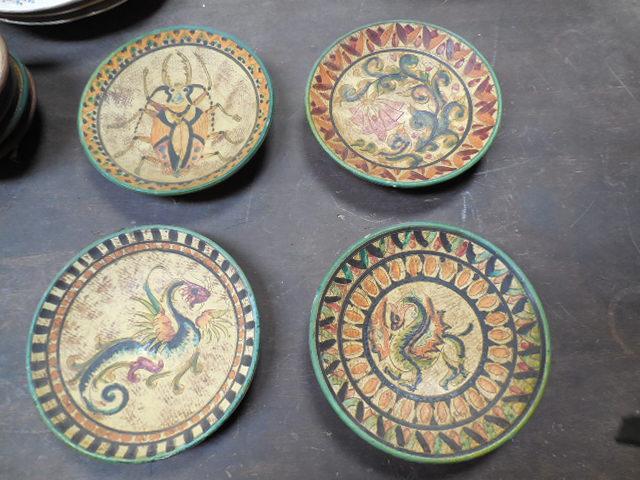 Gruppo di 4 piatti decorativi da parete produzione artigianale italiana z548 ebay - Piatti decorativi ...