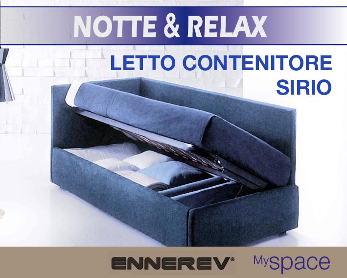 LETTO CONTENITORE SOMMIER SINGOLO 80 X 190 – SIRIO Â ...