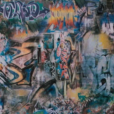 Carta da parati moderna rivestimento murale murales graffiti for Carta parati murales